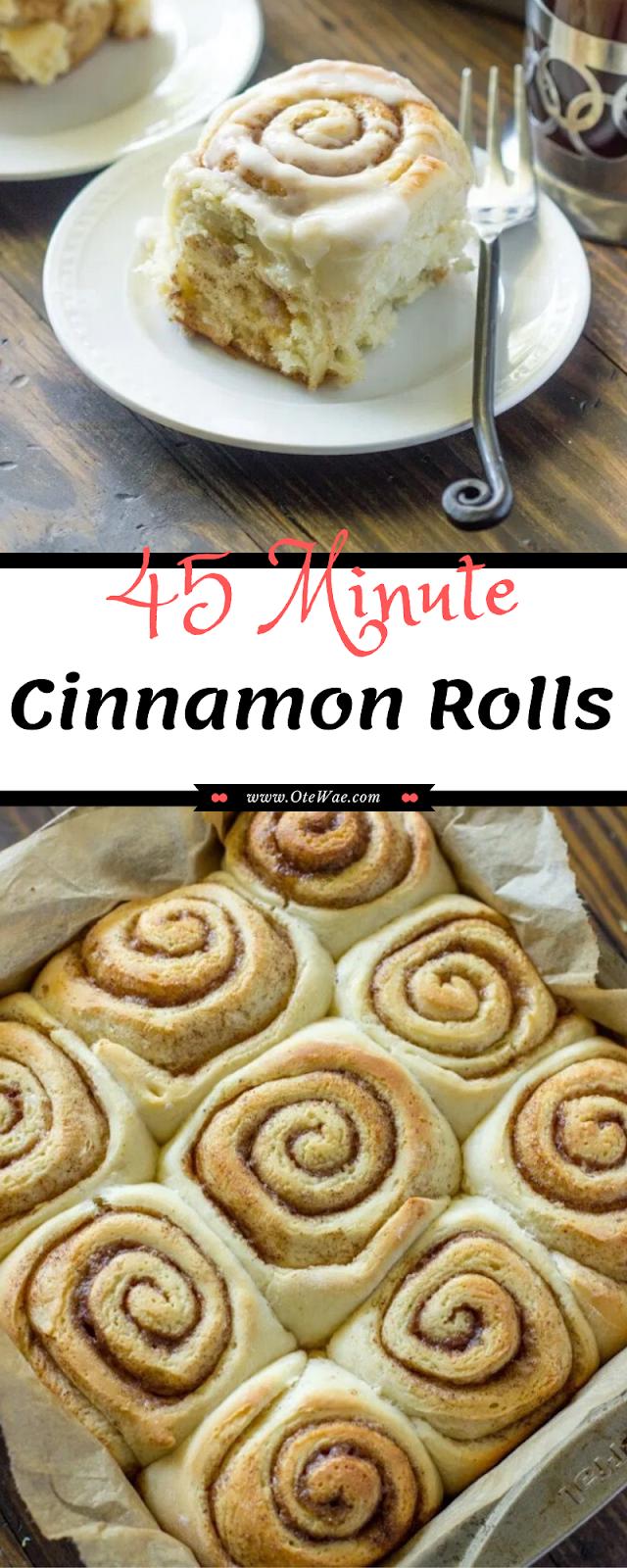 45 Minute Cinnamon Rolls