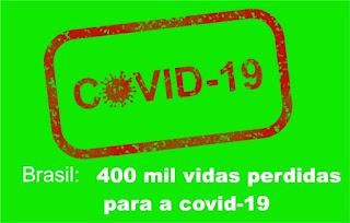 Imagem: Brasil atinge 400 mil vidas perdidas para a covid-19