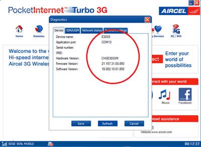 Huawei Aircel Dashboard Update UTPS21.005.20.02.850