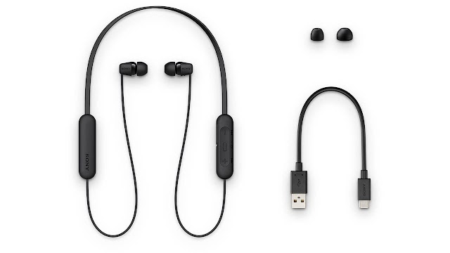 Sony WI-C200 Wireless Earphone with 15 Hours Battery Life