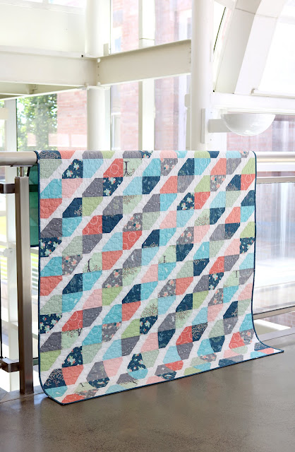Twist Tie Quilt using Fairy Edith Fabrics - quilt by Andy of A Bright Corner