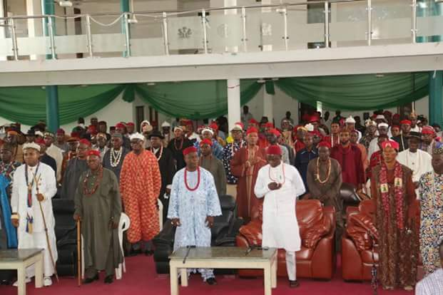 Details of meeting between @GovernorIkpeazu, Traditional rulers and GOC of 82 Division of the Army