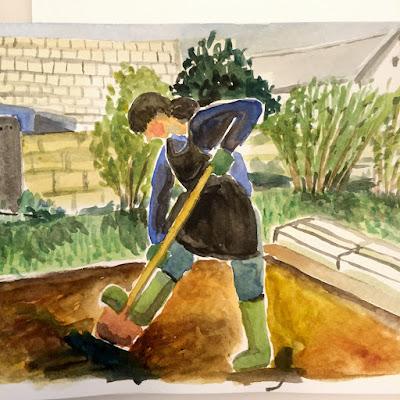 gardening by Yukié Matsushita