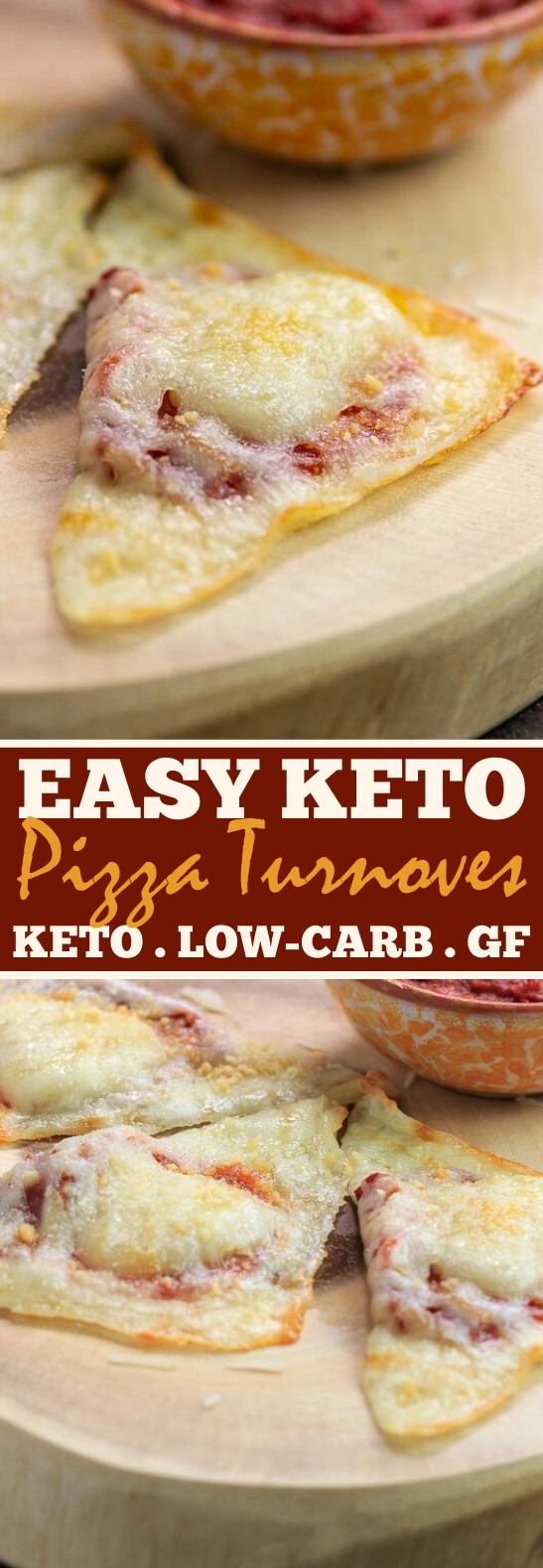 Easy Keto Pizza Turnovers #lowcarb #snacks #keto #appetizers #glutenfree
