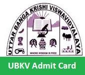 UBKV Admit Card 2017
