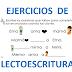 EJERCICIOS DE LECTOESCRITURA