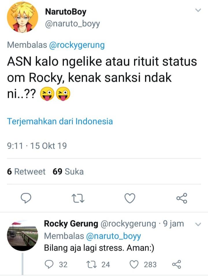 ASN Kena Sanksi Karena Unggahan Medsos, Rocky Beberkan Saran Cerdas