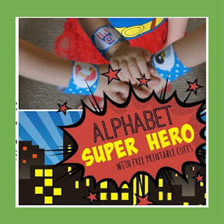 alphabet super hero cuffs