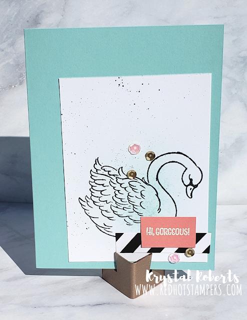 Stampin' Up! Prince & Princess Swan Card