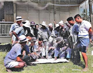 Guerrillas in a huddle.