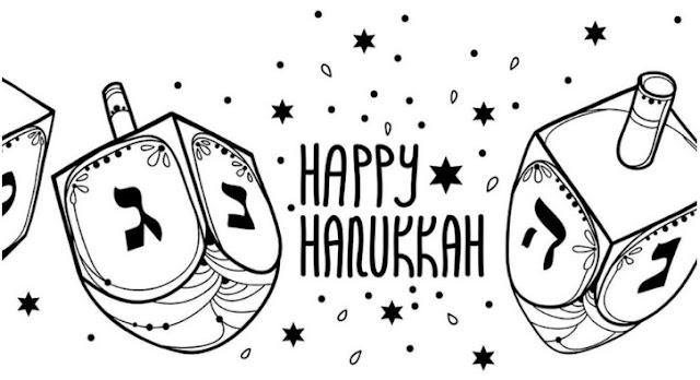 hanukkah printable color pages