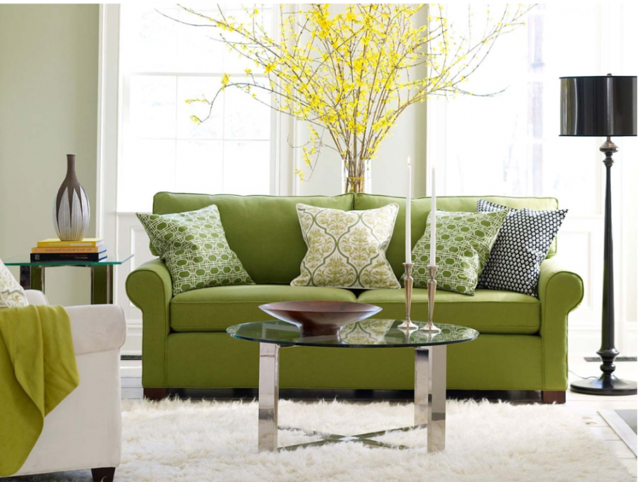 Black White And Green Living Room Ideas