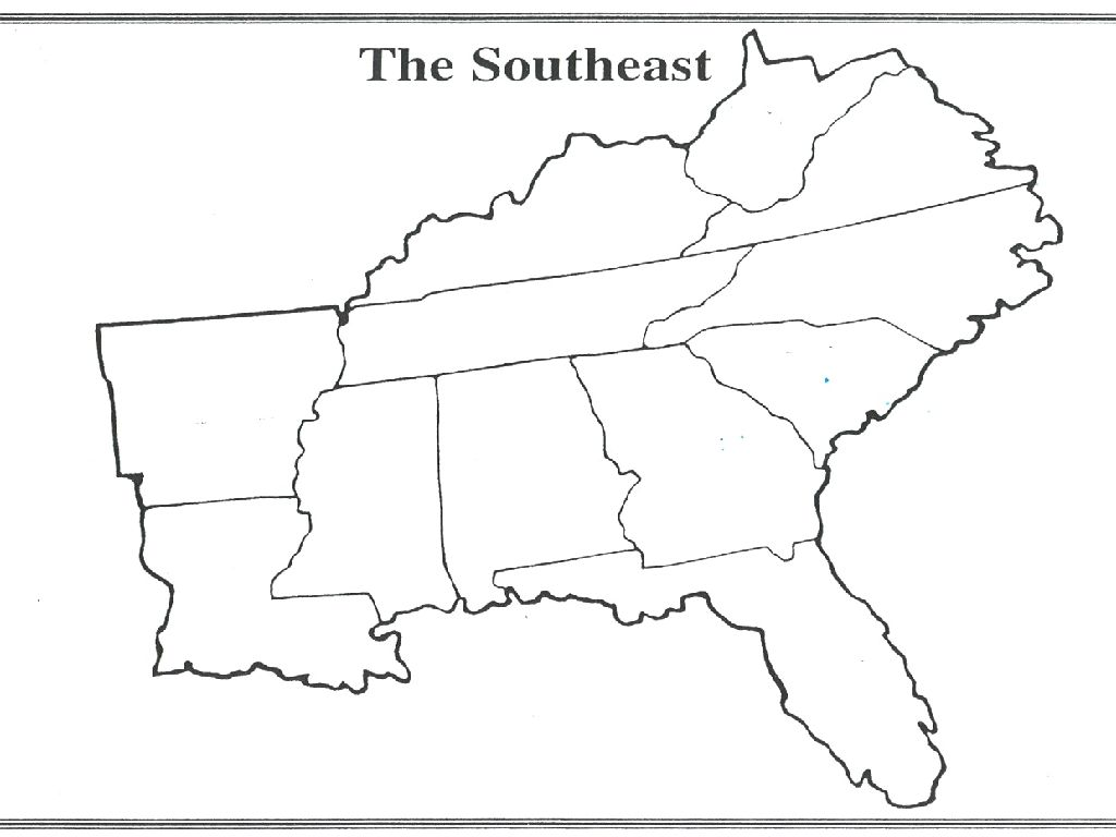 Blank Map Of Southeastern United States