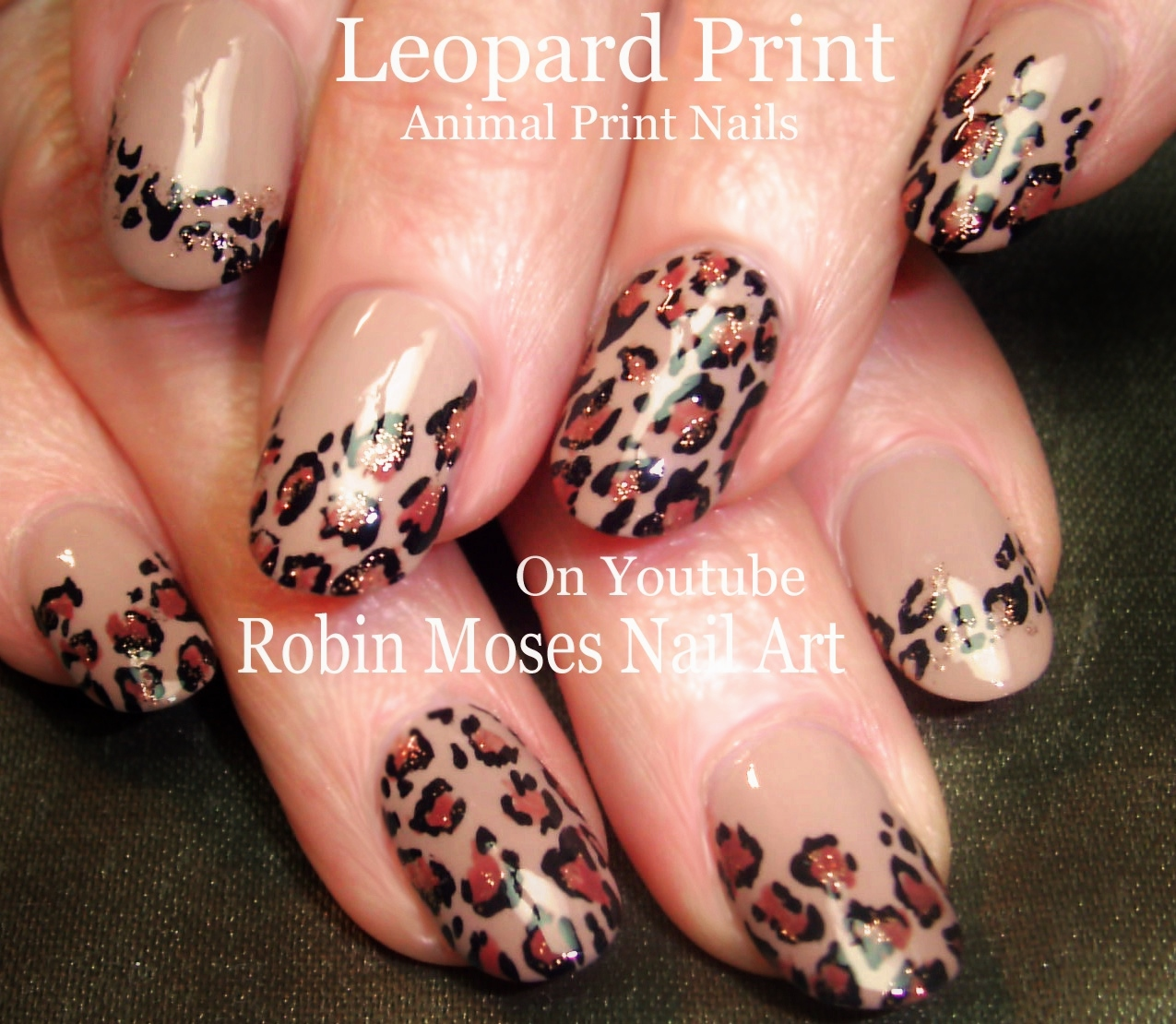 Nail Art by Robin Moses: Leopard Print Nails Design Tutorials! \