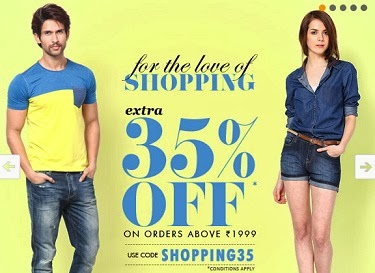 (Expired) Jabong: Get 35% Extra Off on Cart Value of Rs.1999 & above (Hurry!! Valid till Today)