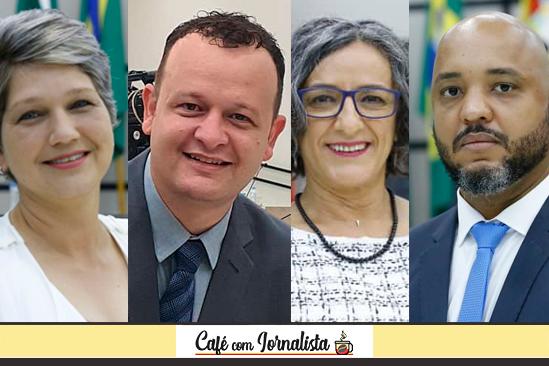 Quatro dos seis vereadores novatos da Câmara de Maringá: Cris Lauer, Paulo Biazon, Professora Ana Lucia e Delegado Luiz Alves