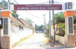 Gapura Kampung Batik Desa Paseseh Tanjung Bumi