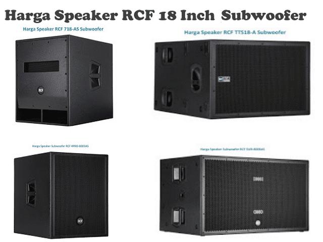 Harga Speaker RCF 18 Inch Subwoofer