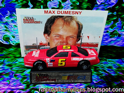 Max Dumesny #5 Crane Cams Landrigan's Earthmoving Pizza Hut Racing Champions 1/64 NASCAR diecast blog 1991 1992 1993