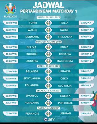 UERO Mulai 12 Juni 2021! Italia Vs Turki, Berikut Jadwal Lengkap Euro dan Copa America Tahun 2021