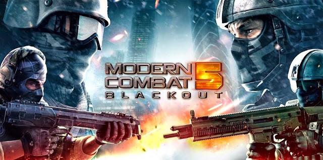 لعبة Modern Combat 5 Blackout v2.3.0g مهكرة للاندرويد (اخر اصدار)