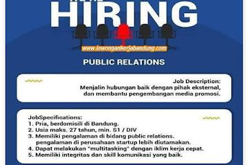 Lowongan Kerja Public Relation Borongdong Bandung