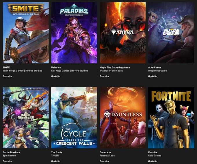 Epic Games jogos grátis
