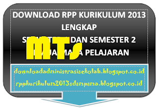 RPP Bahasa Arab MTs Kelas 7 Kurikulum 2013 Gratis Download