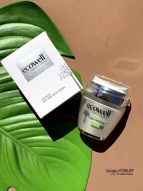 ecowell diamond advanced anti age ginkgo face crem organik yüz kremi