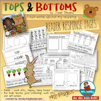 reader response pages, tops and bottoms, teaching resources