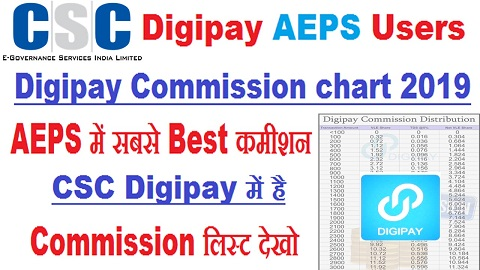 Digipay Commission chart 2019