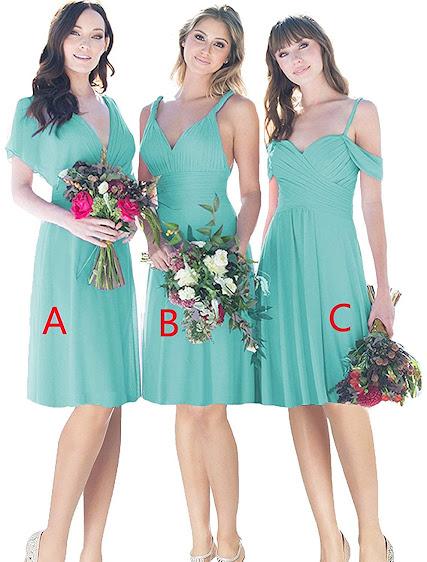 Best Quality Turquoise Chiffon Bridesmaid Dresses
