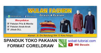 Contoh Desain Spanduk Toko Baju Free CDR