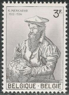 Belgium 1962 3fr Gerard Mercator - Cartographer