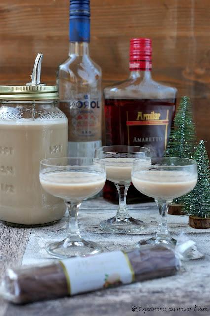 Marzipan-Nougat-Likör | Weihnachten | Rezept | Monsieur Cuisine | Getränke | Geschenke aus der Küche