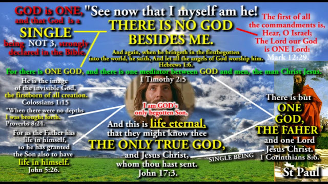 And this is life eternal, that they might know thee  THE ONLY TRUE GOD,  and Jesus Christ, whom thou hast sent.  John 17:3.