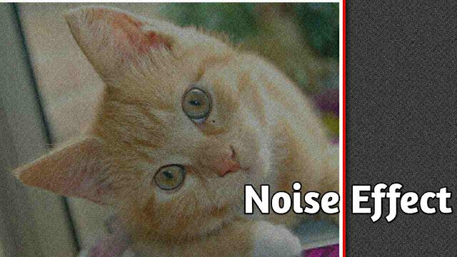 menambahkan noise efek pada foto