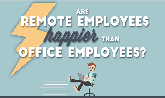 Are the employees of remote workers more happy than the employees of the office? #infographic