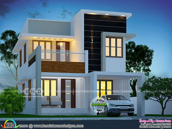 1480 square feet 3 bedroom Cute home design