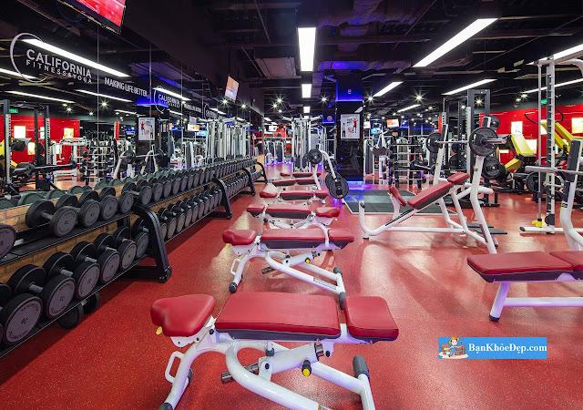 Phòng Tập Gym Quận 5 Giá Rẻ tại California Fitness & Yoga sân tập luyện