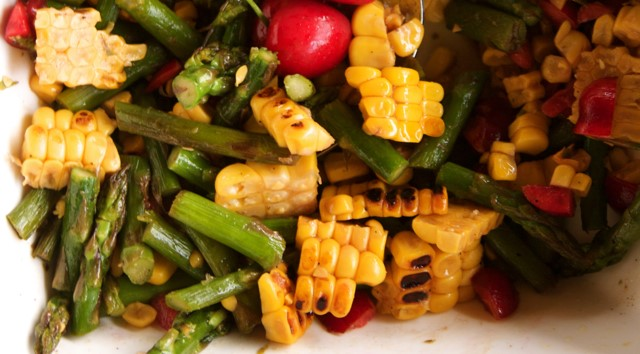 Cherry, Asparagus and Corn Salad