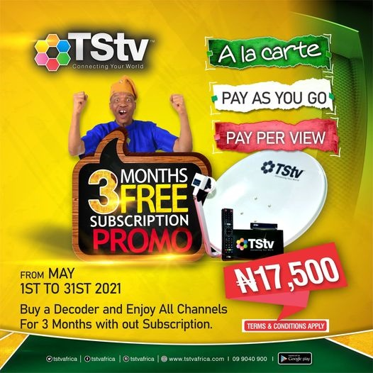 Enjoy Free 3 Months Subscription on All Channels - Get TStv Decoder Now