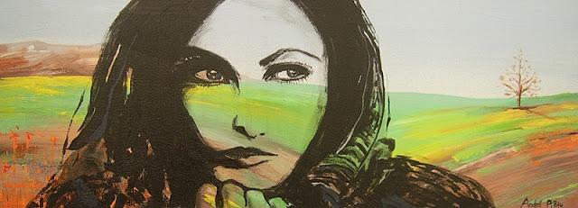 artist portrait painting woman face saatchi art