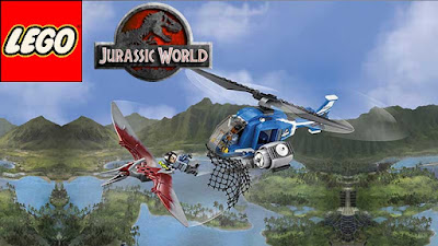 Teenage Science Fiction Coloring Jurassic World LEGO dinosaurs Pteranodon Capture 75915 Building Set
