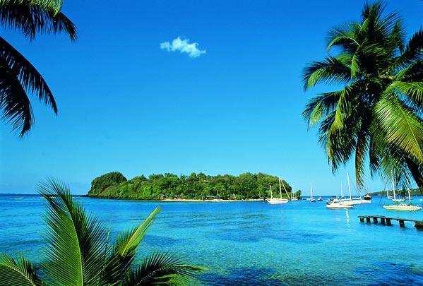 Paysage de Saint Vincent et les Grenadines