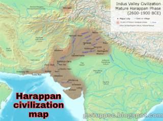Hadappa sabhyta ka vistar map