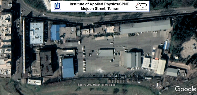 Close-up image of the site at Mojdeh Street, courtesy of Google, where you can see the site of Institute of Applied Physics or IAP shared with Iranian Defense research and Innovation nuclear organization SPND