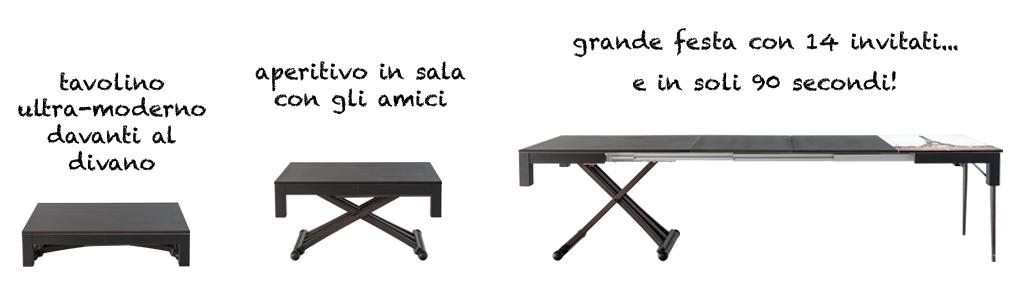Lg lesmo tavolo estensibile per arredare ambienti for Tavolo da salotto allungabile