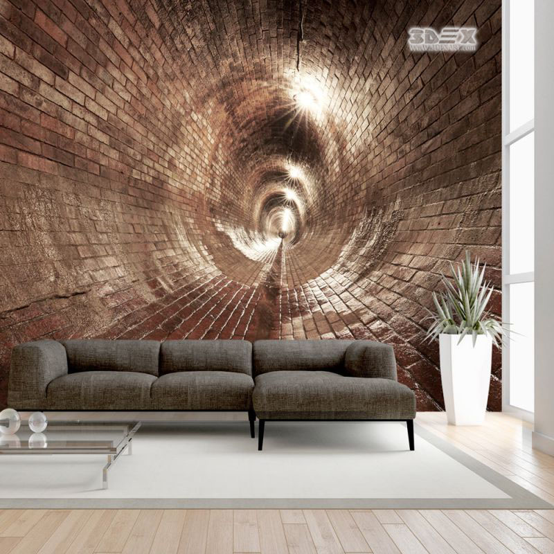 40 stylish 3d wallpaper for living room walls 3d wall murals for Wallpapered walls