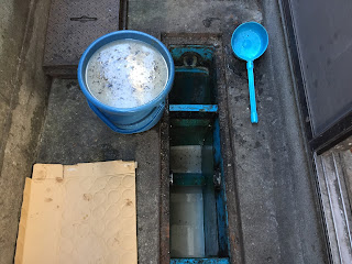 清水後2回目の泥水除去状況